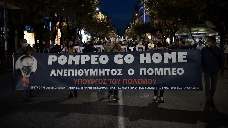 Proteste contro Pompeo